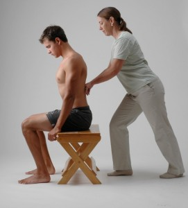 Seated Rolfing SI back work