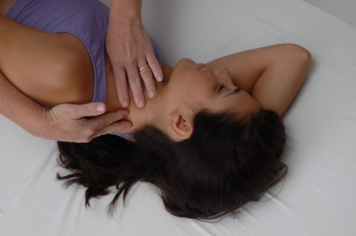 Rolfing SI neck work