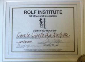Certified Rolfer Certificate